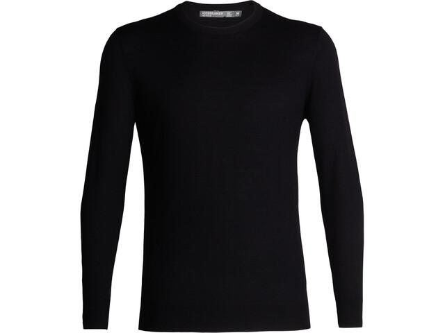 Icebreaker Shearer Crew sweater Herrer, sort